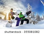 young couple having fun with... | Shutterstock . vector #355081082