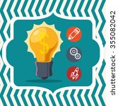 start up  concept  with icons... | Shutterstock .eps vector #355082042