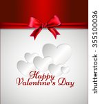 greeting card valentine's day.... | Shutterstock .eps vector #355100036