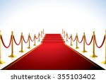 red carpet with stairs in the... | Shutterstock .eps vector #355103402