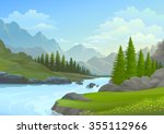 river flowing from the... | Shutterstock .eps vector #355112966