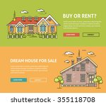 real estate market flat line... | Shutterstock .eps vector #355118708