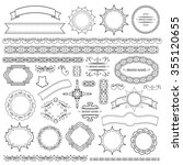 set of vector graphic elements... | Shutterstock .eps vector #355120655
