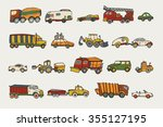 cars toy pattern | Shutterstock .eps vector #355127195