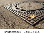 Yellow Maple Leaf On A Manhole...