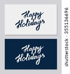 happy holidays   hand drawn... | Shutterstock .eps vector #355136696