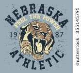 nebraska athletic team.sports t ... | Shutterstock .eps vector #355145795