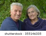 beautiful caucasian elderly... | Shutterstock . vector #355146335