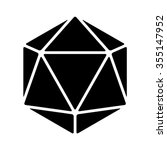 20 sided   20d dice flat icon... | Shutterstock .eps vector #355147952