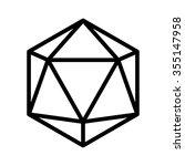 20 sided   20d dice line art... | Shutterstock .eps vector #355147958