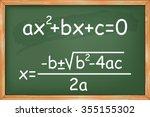 mathematics  second degree... | Shutterstock .eps vector #355155302