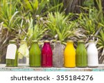 organic cold pressed raw... | Shutterstock . vector #355184276