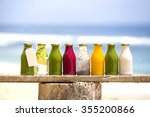 organic cold pressed raw... | Shutterstock . vector #355200866