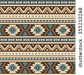 seamless ethnic pattern design | Shutterstock .eps vector #355210268