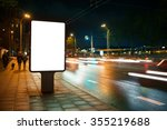 blank advertising billboard in... | Shutterstock . vector #355219688