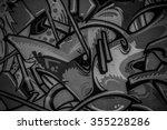 street art grafitti in black...