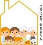 family home  orange  | Shutterstock .eps vector #355231076
