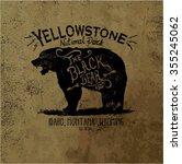 outdoor wild life vector bear...   Shutterstock .eps vector #355245062