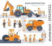 road construction infographic... | Shutterstock .eps vector #355245212