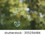 Soap Bubbles In Heart Shape...