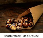 Roasted Chestnuts In Paper Bag...