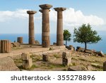 the temple of athena in the... | Shutterstock . vector #355278896