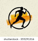 running man creative vector... | Shutterstock .eps vector #355291316