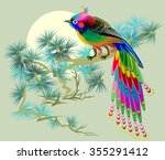 fairyland bird sitting on a... | Shutterstock .eps vector #355291412