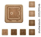 set of carved wooden strong box ...
