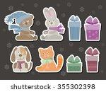 set of funny baby animals ...