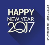 new year 2017 card   Shutterstock .eps vector #355323185