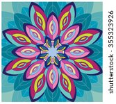 abstract colorful flower... | Shutterstock .eps vector #355323926