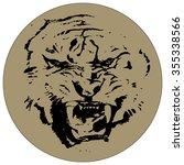 head aggressive tiger   Shutterstock .eps vector #355338566