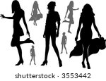 black silhouettes of walking... | Shutterstock .eps vector #3553442