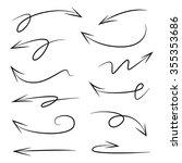 vector hand drawn arrows set | Shutterstock .eps vector #355353686