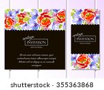 vintage delicate invitation... | Shutterstock .eps vector #355363868
