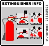 fire extinguisher illustration  ... | Shutterstock .eps vector #355365836
