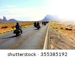 motorbikers traveling in... | Shutterstock . vector #355385192