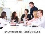 young business people... | Shutterstock . vector #355394156