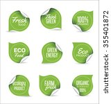 eco organic label tag collection | Shutterstock .eps vector #355401872