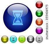 set of color hourglass glass...