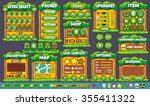 platform game user interface... | Shutterstock .eps vector #355411322