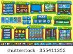 platform game user interface... | Shutterstock .eps vector #355411352