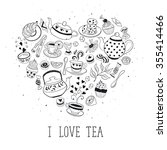 tea time poster concept. tea... | Shutterstock . vector #355414466