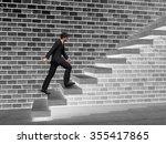 concept 3d man or  businessman... | Shutterstock . vector #355417865