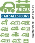 car sales icons. vector | Shutterstock .eps vector #35542654