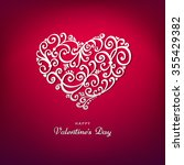 red valentine's day background... | Shutterstock .eps vector #355429382