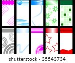 set of colorful vertical cards. ... | Shutterstock .eps vector #35543734