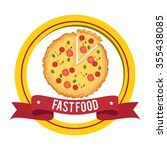 delicious fast food graphic... | Shutterstock .eps vector #355438085