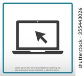 laptop vector icon | Shutterstock .eps vector #355443026